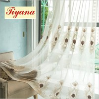 Modern luxury embroidered European voile tulle for decoration living room bedroom balcony designer curtain window room Su100 *15