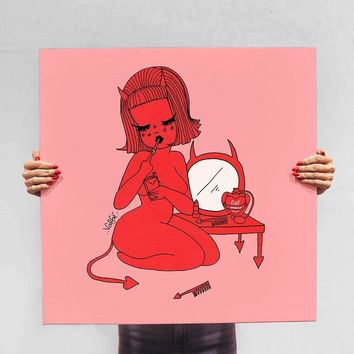 Devilish Lucy Canvas Print