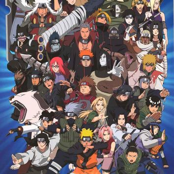 Naruto Shippuden Characters Poster 24x36