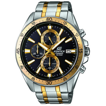 Casio - Men's Edifice Bicolour Stainless Steel Chronograph Watch EFR-546SG-1AVUEF