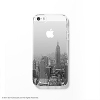 Cityscape clear printed iPhone case S056