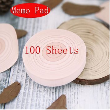 1 Pcs 2017 Creative  100sheets annual ring kawaii paper stickers memo pad Trees round post-it notes DIY Cover School 01874