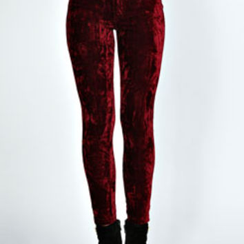 Frankie Crushed Velvet Disco Pants