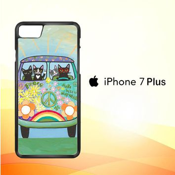 Hippie Cats Road Trip! L2171 iPhone 7 Plus Case