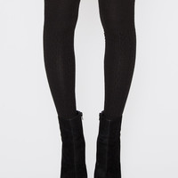 Charlize Over the Knee Socks - Black