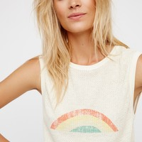 Free People Red Rose Tank