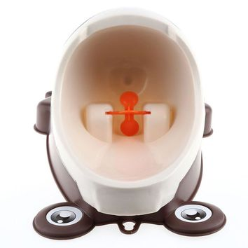 4 Colors Available Cute Animal Convinient Boy's Potty Urinal Standing Toilet Frog Shape Vertical Wall-Mounted Pee Boy Bathroom