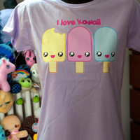 Ice-Cream t-shirt - I love Kawaii