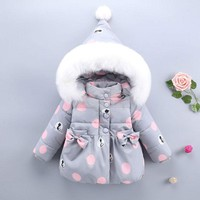 Winter Hooded Jackets For Newborn Toddler Baby Girl