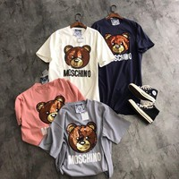 Moschino Fashion Sequins Bear Tee Dress