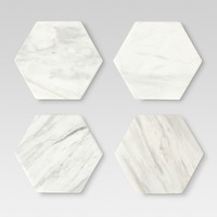 Marble Stackable Coasters White - Set of 4 - Threshold™