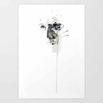 still sleeping Art Print by Agnes-cecile