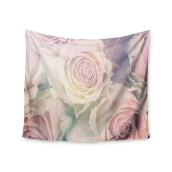 "Suzanne Carter ""Faded Beauty"" Blush Floral Wall Tapestry"