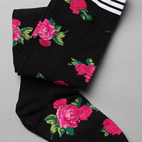 Karmaloop.com - Global Concrete Culture - The Mexicali Rose Thigh High Sock in Black  by Betsey Johnson