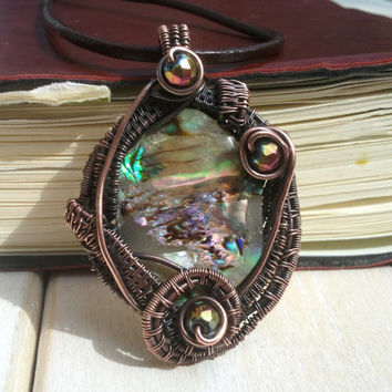 Mermaids Pendant - Shell Wire Wrapped Pendant - Wire Wrapped Jewellery Handmade - Wire Jewellery