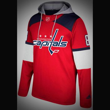 Washington Capitals Adidas NHL Hockey Jersey Style Hoodie