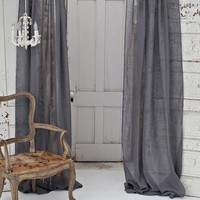 Solid Linen Gauze Window Curtain - Home Decor | Couture Dreams