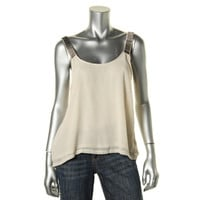 Rossmore Womens Chiffon Scoop Neck Pullover Top