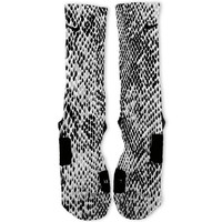 Grey Snake Skin Custom Nike Elite Socks