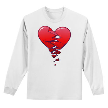 Crumbling Broken Heart Adult Long Sleeve Shirt by