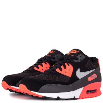 Shoes - Men - Basketball - Nike Air Max 90 Essential - Black Wolf Grey  Atomic Red Anth 66352ada7fd6