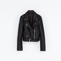 FAUX LEATHER BIKER JACKET - Blazers - Woman | ZARA United States