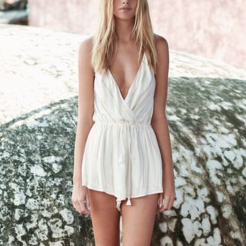 the jetset diaries - el dorado tan striped romper