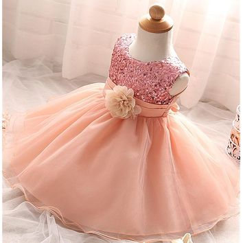 Toddler Baby Party Frocks Little Girl Dress Baby Girl Christening Gown Kids Infant Party For Girl Bebes 1 2 Years Birthday Dress