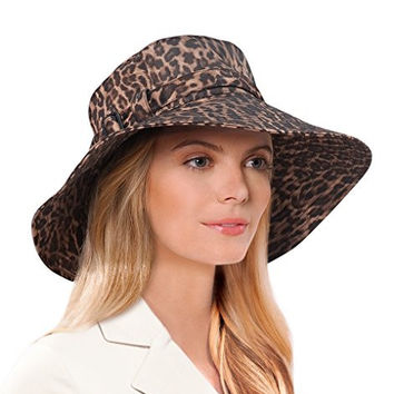 Kaya Hat in Leopard by Eric Javits