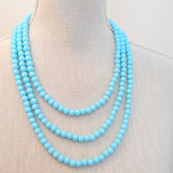 Wedding bridal pearl necklace, choose your color, matching bracelet, earrings, magnetic clasps, multi strand jewelry, turquoise pearls