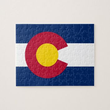 Puzzle with Flag of Colorado State