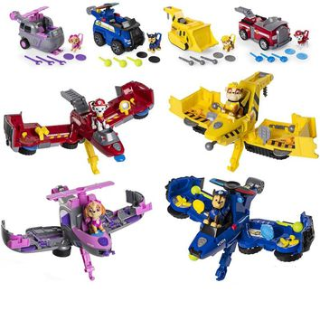 Paw Patrol car  Flip Fly Vehicle toys Can Have Fun With This 2-in-1 Vehicle Transforming From Bulldozer to a Jet Kids