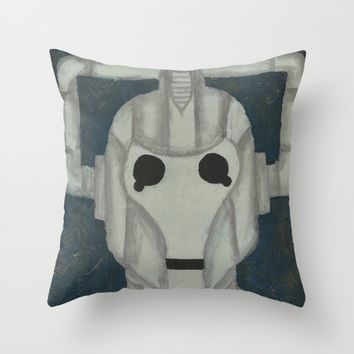 The Cyberman Throw Pillow by Lindsay