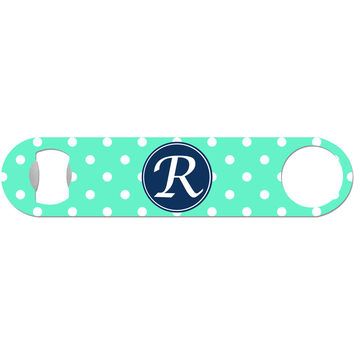 Personalized Polka Dot - Initial Bottle Opener