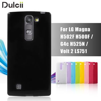 Dulcii For LG G4c H525N Phone Case For LG Volt 2 LS751 Cover Glossy Outer Brushed Inner TPU Case for LG Magna H502F H500F G4c