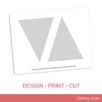 Instant Download: Party Printable Template - DIY Triangle Banner Flag Design Template by daintzy