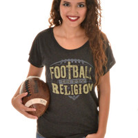 FOOTBALL IS MY RELIGION ATX TEE