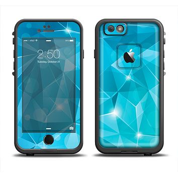The Vector Shiny Blue Crystal Pattern Apple iPhone 6 LifeProof Fre Case Skin Set