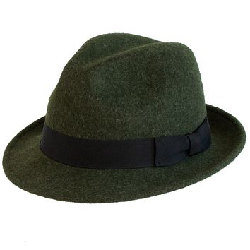 Wool Snap Brim Fedora by Broner