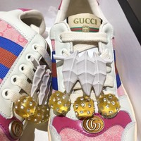 Gucci Women Men Casual Shoes Boots fashionable casual leather Women Heels Sandal Shoes