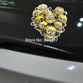 Newest Minions Despicable Me Stuart Phil Kevin Jerry Jorge Phil  Dave Stickers Car Decal for  Volkswagen Tesla  Kia Lada
