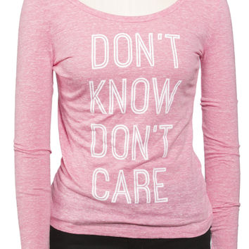 Girls 'Don't Know' Long Sleeve Raglan Tee