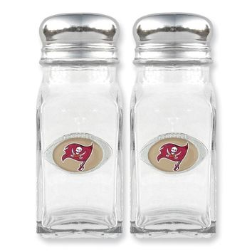 NFL Buccaneers Glass Salt and Pepper Shakers - Etching Personalized Gift Item
