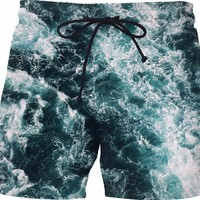 Ocean waves Swim Shorts