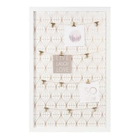 GOLD GRAPHIC wooden photo memo board in white 40 x 60cm | Maisons du Monde