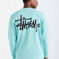 Stussy Basic Logo Crew Neck Sweatshirt- Green