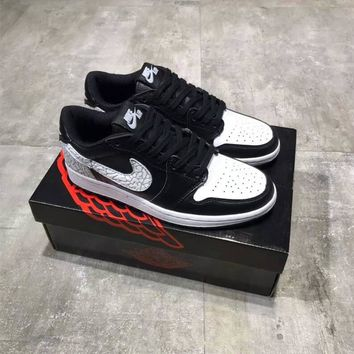 """Nike Air Jordan 1"" Men Casual Fashion Multicolor Low Help Plate Shoes Basketball Shoes Sneakers"