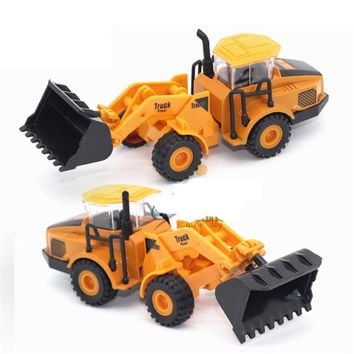 6 In 1 Pull Back Truck Toy Alloy Vehicles Model Toy Car Mini Tractor China Crane Toys For Children High Quality Novelty Gift