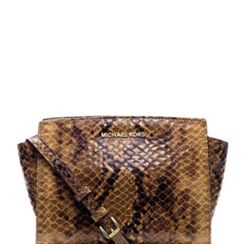 Michael Michael Kors Selma Medium Python Embossed Messenger