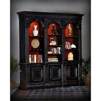 St James Library Bookcase, Black - Furniture - Bookcases - Home Decor